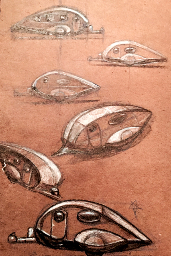 Concept Industrial Design Sketches - Aero Trailer