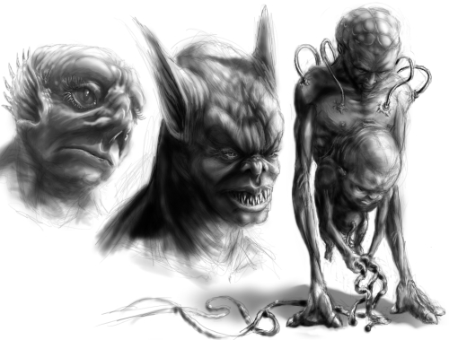 Concept Art Creature Sketches