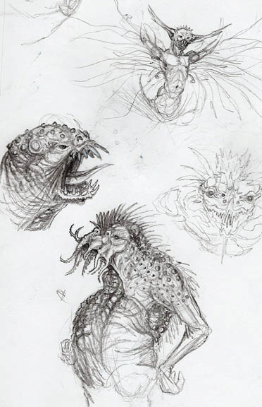Creature Design Sketch Page
