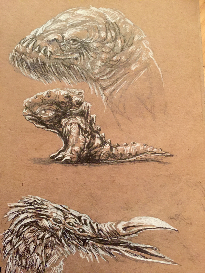 Can you believe it More Creature Speed Sketches