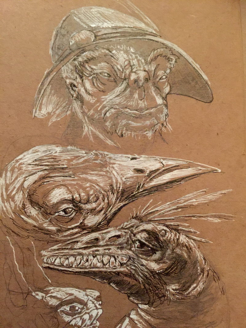 Last of the Creature Speed Sketches